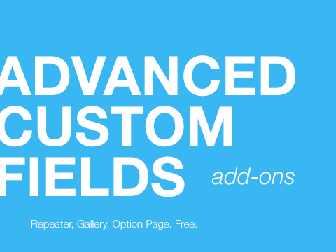 Advanced Custom Field – самые нужные add-ons