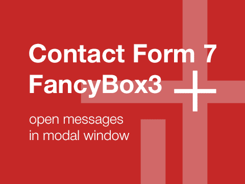 Contact Form 7 + FancyBox3